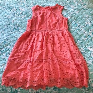 NWT Coral fit and flare dress